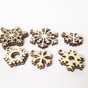 Snežinke - okraski za jelko